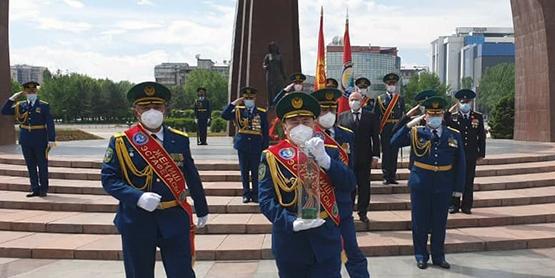 Эстафета Победы киргизской границы